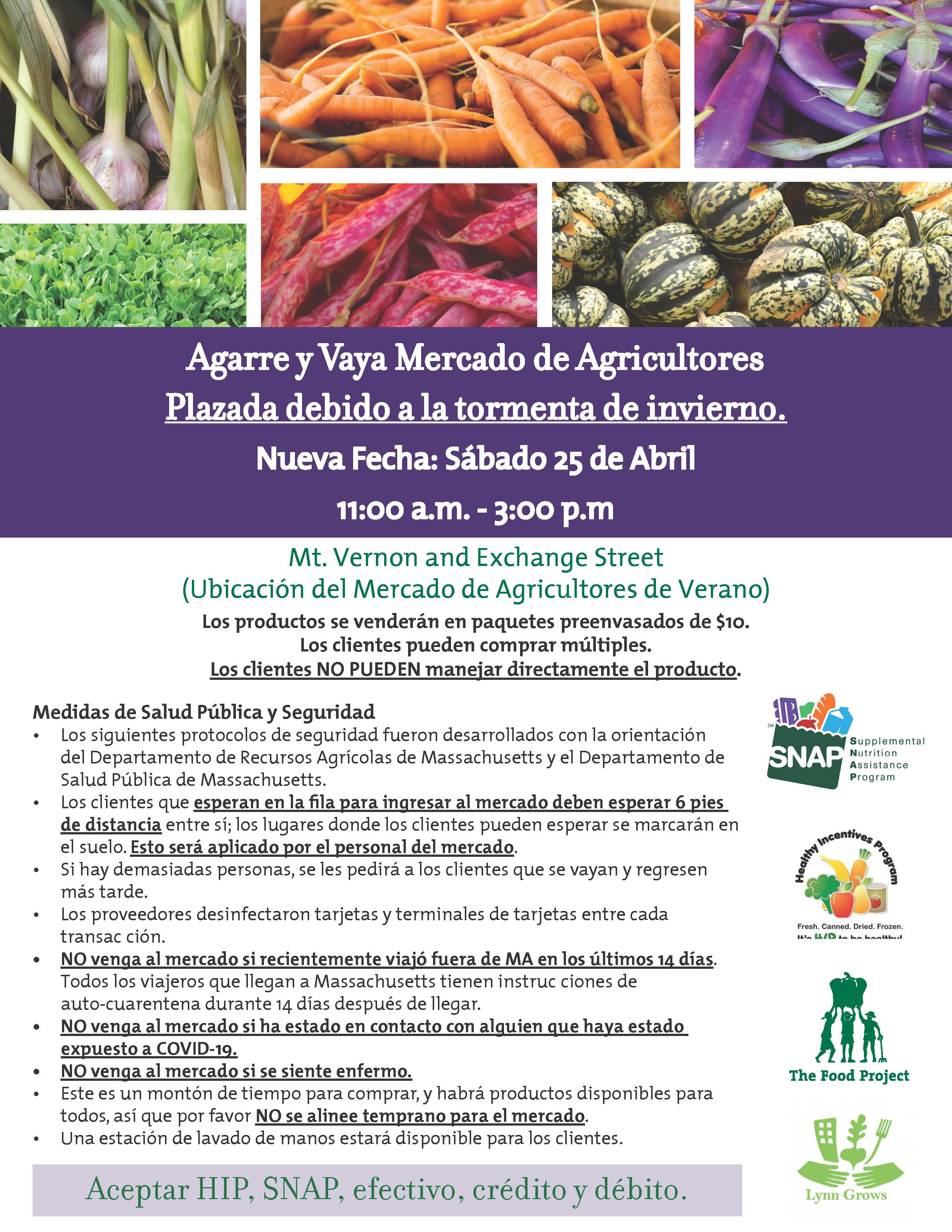 FINAL April 25 Lynn Farmers Market Flyer Spanish.jpg